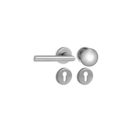 Nerezové rozetové kování  8001 klika+koule- levá FAB